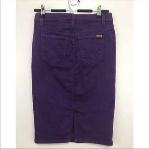 JOES JEANS Purple Denim Pencil Skirt